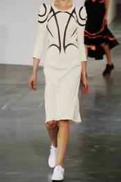 JUNYA WATANABE Mesh-paneled crepe-jersey dress