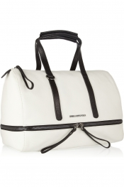 KARL Textured-leather bowling bag