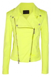 KARL LAGERFELD Jovanna neon stretch-denim biker jacket