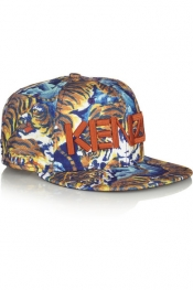 KENZO New Era tiger jungle-print twill cap