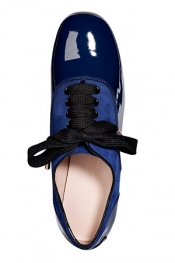 KATIE GRAND LOVES HOGAN Patent Leather/Suede Francesina Lace-Ups