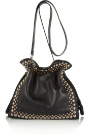 LOEWE Flamenco 30 studded textured-leather shoulder bag