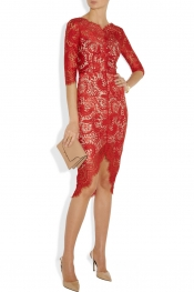 La robe en lacet rouge Lover