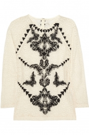MAJE Aristo embroidered lace top