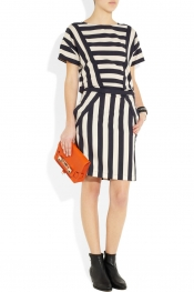MARC BY MARC JACOBS Scooter striped stretch-twill dress