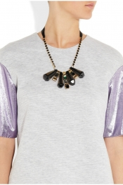 MARNI Resin and crystal necklace