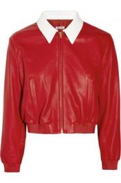 MIU MIU Leather bomber jacket