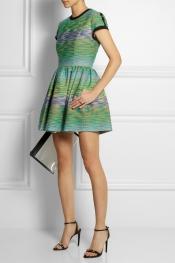 MSGM Cutout-back bouclé mini dress