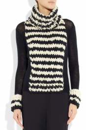 NINA RICCI Knitted wool and cashmere-blend sweater
