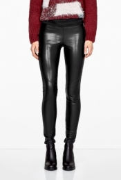 PAIGE DENIM PALOMA FAUX LEATHER AND PONTE LEGGINGS