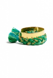 AURELIE BIDERMANN BRAIDED GOLD BRACELET