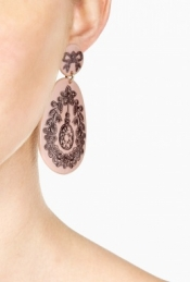 RED VALENTINO SURREAL PRINT EARRINGS