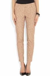PAUL & JOE Biche lace and twill straight-leg pants