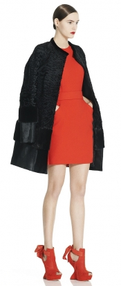 Alexander McQueen orange minidress