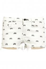 RAG & BONE JEAN Mila printed stretch-denim shorts