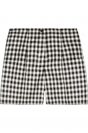 ROCHAS Checked woven silk shorts