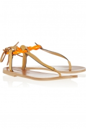 SEE BY CHLOÉ Raffia-trimmed leather sandals
