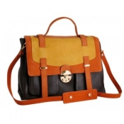 Simone tri coloured satchel