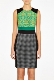 SPORTMAX CODE FULVIA PRINT CLASH GEOMETRIC DRESS
