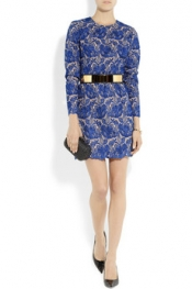 Stella McCartney Celia guipure embroidered lace and crepe mini dress