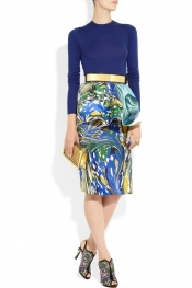 STELLA MCCARTNEY Berkeley printed silk-blend peplum skirt