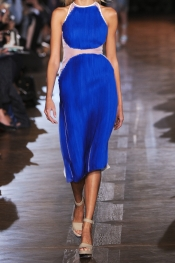 STELLA MCCARTNEY Silk-organza and crepe dress