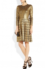 Temperley London Judith metallic merino wool dress