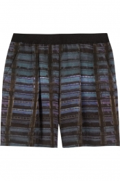 THEYSKENS' THEORY Iding printed silk shorts