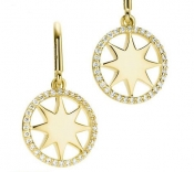 Paloma's Venezia Stella diamond rim earrings