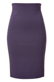 VERSACE High-Waisted Skirt in Eggplant