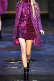 VERSUS Sequined knitted mini dress