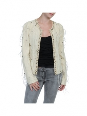 Jacket ostrich feathers