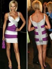 Herve Leger Victoria Beckham Suspenders Evening Dress