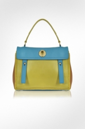 Yves Saint Laurent multicolor leather bag
